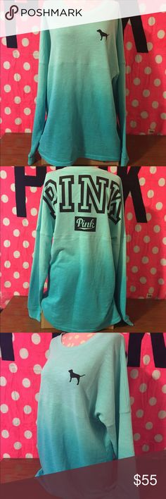 ✨VS PINK OMBRÉ VARSITY CREW NEW✨ ⭐️NEW VS PINK⭐️ ⭐️SIZE: SMALL. FIT RUNS LARGER FIT MEDIUM, LOOSE SMALL  ⭐️PRICE IS FIRM⭐️ ⭐️BUNDLE AND SAVE⭐️ON NON FLASH ITEMS⭐️ ⭐️ALL ITEMS ARE NEW WITH TAGS/NEW IN PLASTIC UNLESS STATED OTHERWISE ⭐️SHIPS SAME OR NEXT DAY MON-SAT⭐️ ⭐️NO HOLDS⭐️ ⭐️NO FREE SHIP UNLESS STATED OTHERWISE⭐️ ⭐️NO TRADES ⭐️PLEASE RATE IN A TIMELY FASHION⭐️ ❤️THANK YOU❤️ CAITLIN❤️VS❤️PINK PINK Victoria's Secret Tops Sweatshirts & Hoodies