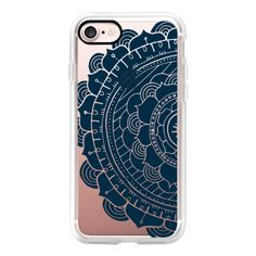 Navy Mandala - iPhone 6s Case,iPhone 6 Case,iPhone 6s Plus Case,iPhone... ($40) ❤ liked on Polyvore featuring accessories, tech accessories, iphone case, clear iphone cases, apple iphone cases, iphone cover case and iphone cases