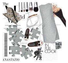 """Anastazio-dress"" by anastazio-kotsopoulos ❤ liked on Polyvore featuring Alice + Olivia, Carven, Bao Bao by Issey Miyake and Bobbi Brown Cosmetics"