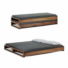 Guest Bed by Hertel Klarhoefer Industrial Design - brilliant for my small spare room! Cool Furniture, Furniture Design, Chair Design, Furniture Ideas, House Furniture, Furniture Companies, Handmade Furniture, Luxury Furniture, Foldable Bed