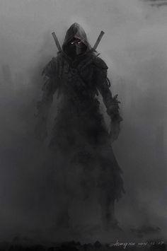 Dark Fantasy Art - Trend in 2020 Dark Fantasy Art, Fantasy Artwork, Dark Art, Fantasy Girl, Fantasy Character Design, Character Art, Character Concept, Character Inspiration, Ninja Kunst