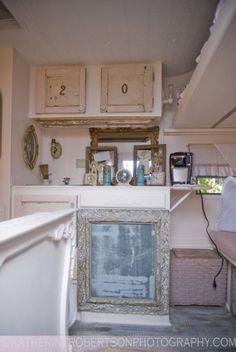 white vintage camper 1