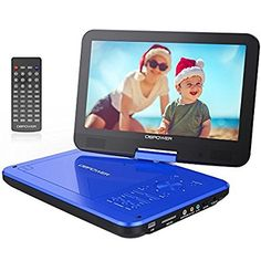 "DBPOWER® 10.5"" Portable DVD Player, 5 Hour Rechargeable Battery, Swivel Screen, Supports SD Card and USB, Direct Play in Formats AVI/RMVB/MP3/JPEG (10.5, Blue)  £57 from Amazon Dec 2017"