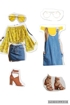 Denim and yellow