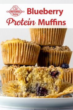 These delicious blueberry protein muffins are made with Proteinfull Baking classic yellow cake mix. Added protein, low sugar, and gluten free! The recipe is in the free recipe that comes with your purchase. Or click through to see a preview! #proteinbaking #proteinmuffins #glutenfreemuffins #blueberrymuffins #nationalblueberrymuffinday Blueberry Protein Muffins, Blue Berry Muffins, Protein Cake, Gluten Free Muffins, Yellow Cake Mixes, Low Sugar, Free Food, Baking, Classic