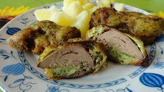 Drůbeží játra osušíme, obalíme v těstíčku - já jsem játra nechala v těstíčku asi hodinku v lednici - a smažíme na oleji z obou stran. Jako... Baked Potato, Mashed Potatoes, Pork, Food And Drink, Homemade, Meat, Baking, Ethnic Recipes, Whipped Potatoes