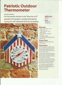 PATRIOTIC OUTDOOR THERMOMETER by CYNDI ROBERTS 1/2