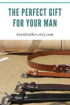 These full grain leather belts are the perfect gift. I promise he will love it! Leather Belts, Leather Men, Vintage Leather, Perfect Gift For Him, Inevitable, Etsy Handmade, Things To Sell, Gifts, Outdoor Travel