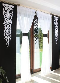 Curtains Curtains Finished Curtains Screens – Source by Sliding Curtains, Bay Window Curtains, Hanging Curtains, Curtains With Blinds, Elegant Curtains, Beautiful Curtains, Diy Home Crafts, Diy Home Decor, Wooden Front Door Design