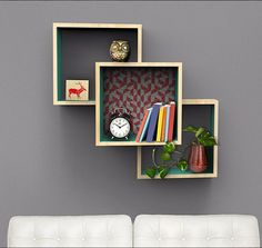 DIY Shelves and Do It Yourself Shelving Ideas - Wall Mounted Display Shelves - Easy Step by Step Shelf Projects for Bedroom, Bathroom, Closet, Wall, Kitchen and Apartment. Floating Units, Rustic Pallet Looks and Simple Storage Plans http://diyjoy.com/diy-shelving-projects