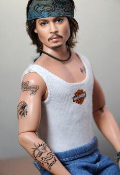 Johnny Depp.  If you haven't seen Noel Cruz'z celebrity repaints, you are missing out.