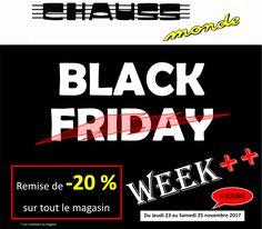 CHAUSSMONDE : OFFRE SPECIALE BLACK FRIDAY !
