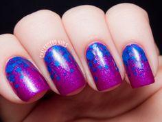 Formula X for Sephora Cobalt Glitter Gradient | Chalkboard Nails