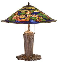 "Meyda Tiffany 32300 25""H Tiffany Pond Lily Table Lamp"