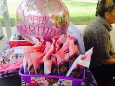 Doc McStuffins trolley used to display party bags