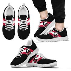 Three Colors Vertical Northern Illinois Huskies Sneakers – Best Funny Store