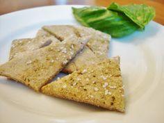 Easy Sourdough Pesto Crackers