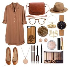 """Brown Ensemble #1"" by bianczarina on Polyvore featuring United by Blue, Aéropostale, rag & bone, The Row, Monica Vinader, Abbott Lyon, Deborah Lippmann, Bloomingdale's, Shay and BauXo"