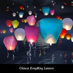 Diy 10Pcs Chinese Sky Paper Lantern Lamps Balloons Wedding Decoration Balloons Sky Fly Wishing lanterns For Outdoor Balloon UFO