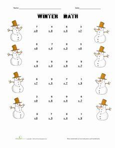 Winter Math Worksheet