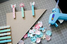 Wooden Clothes Pegs Magnets [great for the fridge]