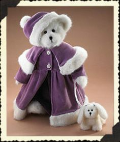 """""""Victoria Crystalfrost with Fifi"""" ~ 16"""" Winter White Plush Bear #919842, issued 2005 (retired), The Boyds Collection, Ltd.  $79.99 at American Country Classics on eBay 07-28-14"""