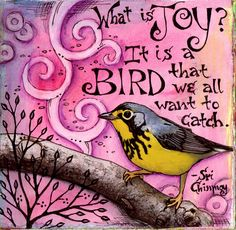 By Vickie Hallmark beautiful illustrations with quote & birds - many to see. Art Journal Pages, Art Journals, Joy And Happiness, Art Journal Inspiration, Beautiful Birds, Mixed Media Art, Altered Art, Collage Art, Artsy