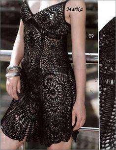 Precioso y coqueto vestido de crochet.