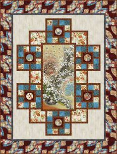 RISING SUN QUILT KIT - another neat idea to use with a panel.....love this!!!!!