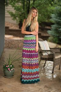 Boho Chic #Skirt - from the Spring 2015 Issue of Love of #Knitting magazine