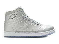 huge discount 7e1b7 0b453 Air Jordan 1 Anodized Foamposite - Chaussure Baskets Jordan Pour Homme  Blanc 414823-001