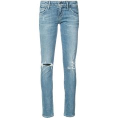 Citizens Of Humanity distressed skinny jeans (5.135 CZK) ❤ liked on Polyvore featuring jeans, blue, blue jeans, distressed skinny jeans, high waisted distressed jeans, blue ripped skinny jeans and ripped denim skinny jeans