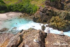 Swimming in the Bubbly Pool - Jost Van Dyke! Click to read more!