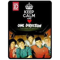 """Fleece Blanket ONE DIRECTION 1D Fleece Blanket Bed Throw Keep Calm and Love One Direction Directioner Merchandise Gift Size 50"""" x 60"""". $29.99, via Etsy."""