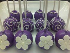 Purple cake pops fit for a princess