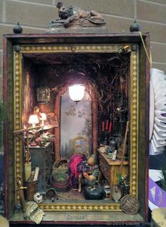 "Roombox Exhibits From The 2015 Westcoast Dollhouse and Miniature Show: Roomboxes from the 2015 Westcoast Miniature Show - ""Gothica"""