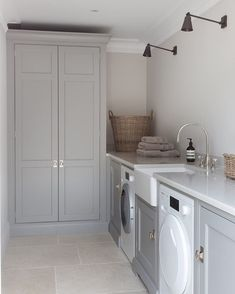 """See our web site for additional information on """"laundry room storage diy cabinets"""". It is actually an exceptional place to find out more. Small Utility Room, Tiny Spaces, Room Storage Diy, House, White Laundry Rooms, Home Projects, Utility Rooms"""