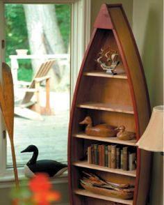perfect carpenter instructions on how to build a canoe shaped bookcase