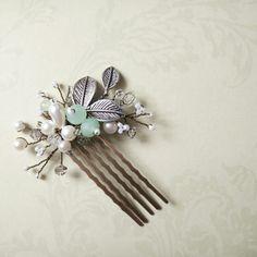 Cottage wedding hair accessories