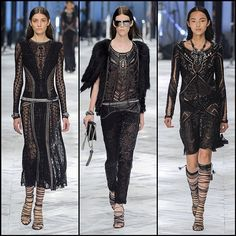 Sheer Black - Which one of these black #RobertoCavalli looks from the SS14 show do you like the most?
