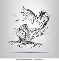 Birth New Elf Vector Illustration Stock Vector (Royalty Free) 166524326 - Birth of a new elf. vector illustration You are in the right place about Birth New Elf Vector Illust - Line Drawing Tattoos, Tattoo Drawings, Pencil Drawings, Art Drawings, Rebirth Tattoo, Arte Cholo, Learn To Sketch, Chest Piece Tattoos, Girl Silhouette