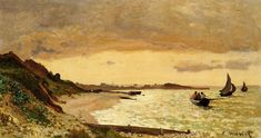 The Coast at Sainte-Adresse - Claude Monet - WikiPaintings.org