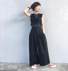 "1,176 Likes, 3 Comments - YUKI (@yukichi_yuki) on Instagram: ""髪も暗くしたので、オールブラック ・ #ootd #outfit #code #coordinate #fashion #style #me #WEAR #ゆきちふく #spring…"""