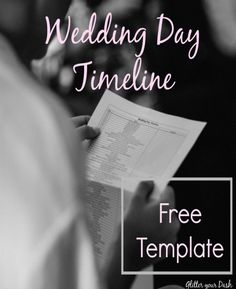 Glitter your Dash : Free Wedding Day Timeline Template