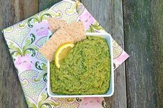 A new twist on an old favorite: Broccolini & Leek Hummus. Vegetarian Recipes, Healthy Recipes, Dinner Entrees, Guacamole, Hummus, Good Food, Food Porn, Appetizers, Apps