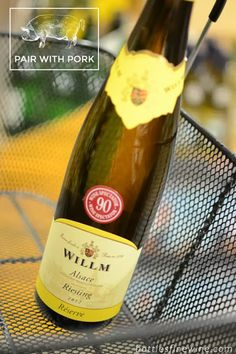 Willm Riesling great with Pork! Recipe & wine pairing ideas!