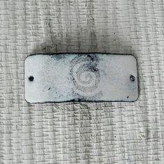 Kiln Fired White Enameled Bracelet Bar - Enamel Connector - E35