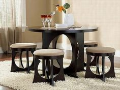 Dining Room Table and Chairs for Small Spaces - Home Office Furniture Desk Check more at http://www.nikkitsfun.com/dining-room-table-and-chairs-for-small-spaces/