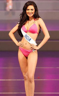 click for full size image: Actress Rochelle Maria Rao Sexy Hot Bikini Photos