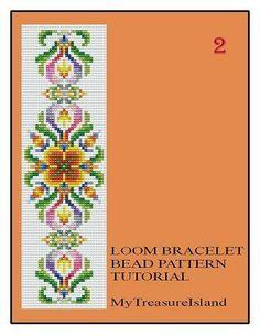 Perle Loom Vintage Motif 1 2 3 Bracelet multi-couleur